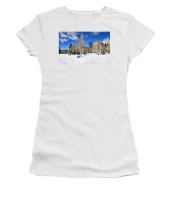 Snowy Aspen Grove Women's T-Shirt