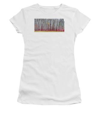 The Birches Panorama  Women's T-Shirt