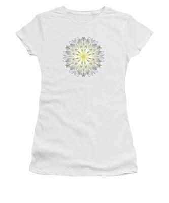 Giant White Dahlia I Flower Mandala White Women's T-Shirt