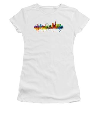 London England Skyline Panoramic Women's T-Shirt