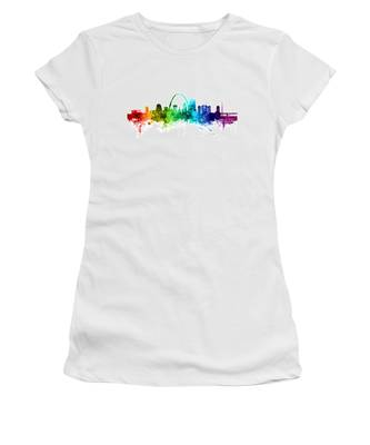 St Louis Missouri Skyline Women's T-Shirt