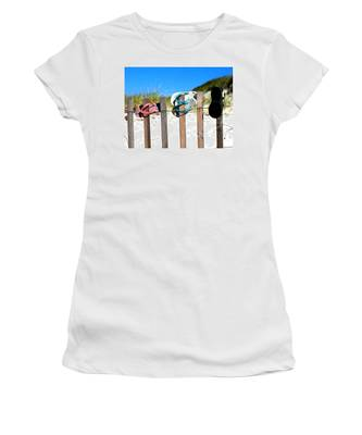 Beach Sandels  Women's T-Shirt