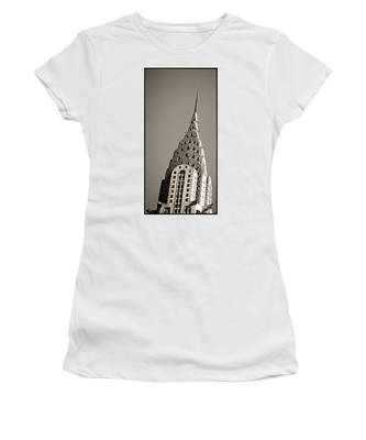 Women's T-Shirt featuring the photograph Chrysler Building New York City by Juergen Held