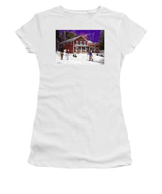 First Snow At The South Woodstock Country Store Women's T-Shirt