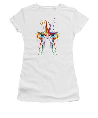 Women's T-Shirt featuring the photograph Fluid Abstract Eyes by Robert G Kernodle