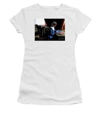 Girl Sewing Women's T-Shirt