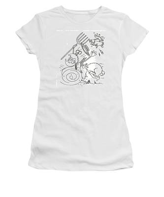 Monster Getting Chased Women's T-Shirt