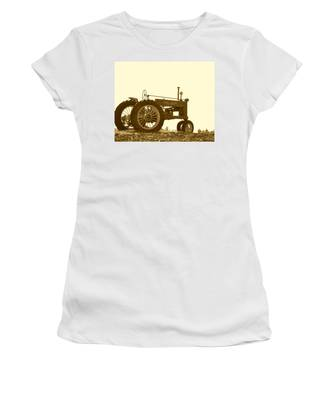 Old Tractor IIi In Sepia Women's T-Shirt