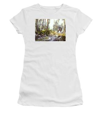 Rider By The Creek Women's T-Shirt