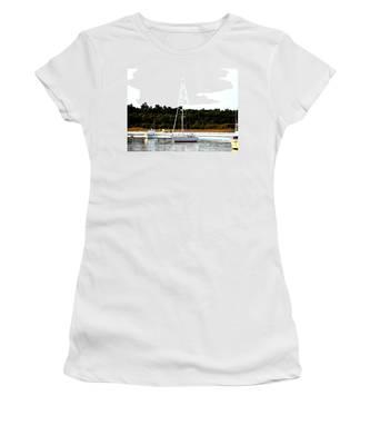 Sail Boat At Anchor  Women's T-Shirt