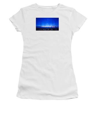 Sunrise Catamarans Moon Planets Women's T-Shirt