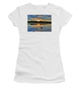 Swan At Sunset Women's T-Shirt