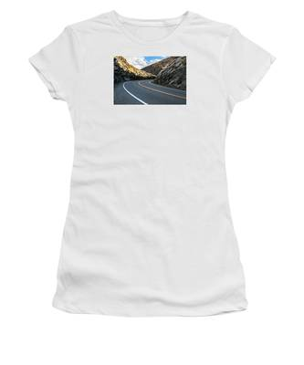 Women's T-Shirt featuring the photograph The Road by Break The Silhouette