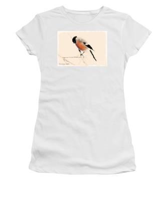 Winter Bullfinch Women's T-Shirt