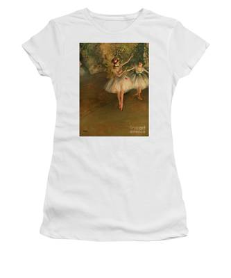 Two Dancers On A Stage Women's T-Shirt