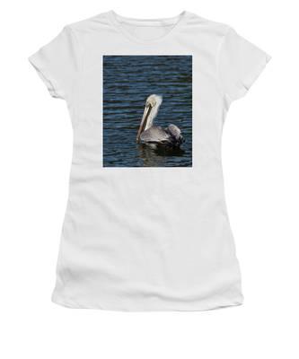 Brown Pelican Women's T-Shirt by Jemmy Archer