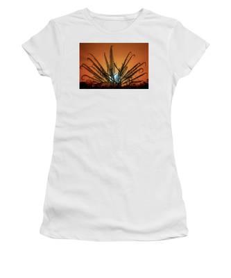Burmese Fern At Sunset Women's T-Shirt by Chris Lord
