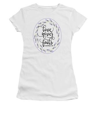 Love Never Fails' Women's T-Shirt