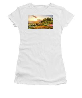 Orange Haze At Sunset Women's T-Shirt