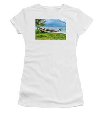 Rainy Fishing Day Women's T-Shirt