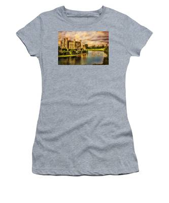 Women's T-Shirt featuring the photograph Leeds Castle Landscape by Chris Lord