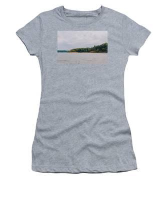 Men Fishing On Barren River Lake Women's T-Shirt