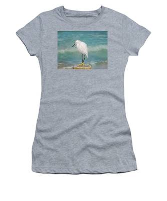 One With Nature - Snowy Egret Women's T-Shirt