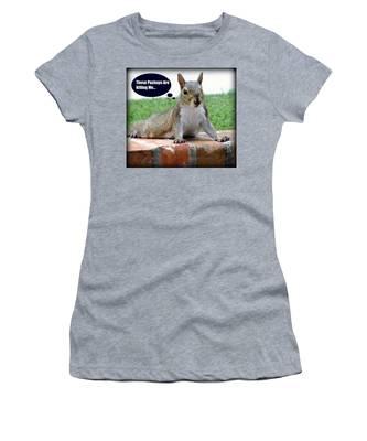 Squirrely Push Ups Women's T-Shirt