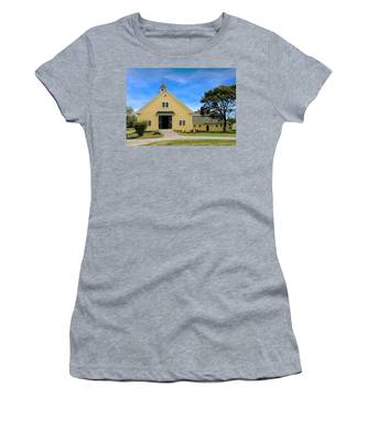 Women's T-Shirt featuring the photograph Wells Reserve Barn by Jemmy Archer
