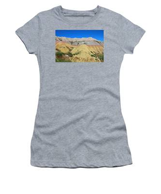 Women's T-Shirt featuring the photograph Yellow Mounds Badlands National Park by Jemmy Archer
