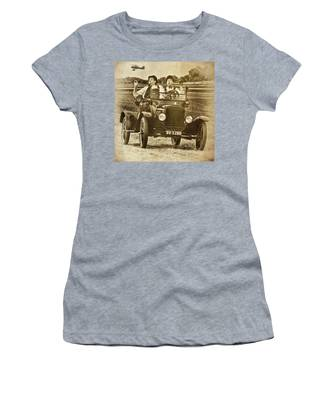 Women's T-Shirt featuring the photograph Not Likely Laurel And Hardly Hardy by Chris Lord