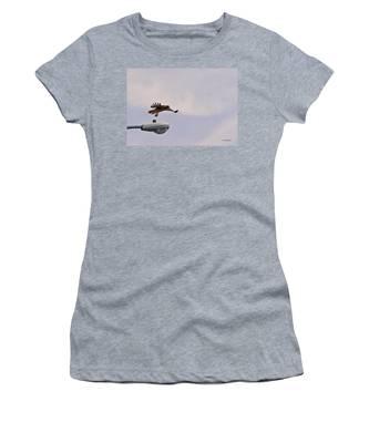Red-tailed Hawk In Flight Women's T-Shirt