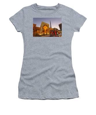 Women's T-Shirt featuring the photograph Dubai Burj Khalifa by Juergen Held