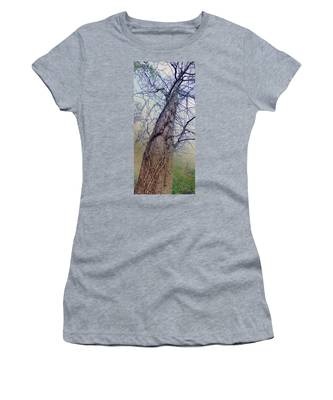 Women's T-Shirt featuring the photograph Abstract Tree Trunk by Robert G Kernodle