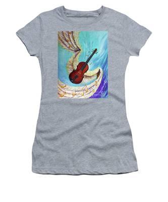 Angel's Song Women's T-Shirt by Nancy Cupp