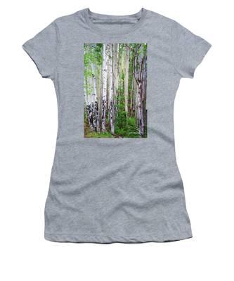 Aspen Grove In The White Mountains Women's T-Shirt