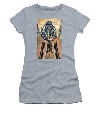 Women's T-Shirt featuring the photograph Atlas At The Rock by Chris Lord