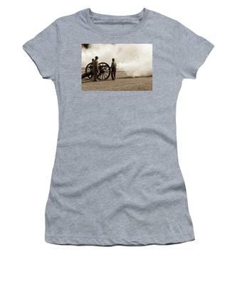 Civil War Era Cannon Firing  Women's T-Shirt