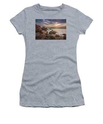 Cloudy Point Dume Sunset Women's T-Shirt