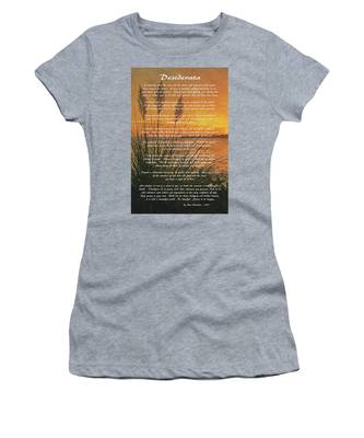 Desiderata - Go Placidly Women's T-Shirt