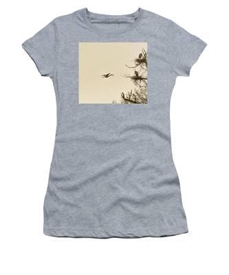 Great Blue Heron Nest Building Women's T-Shirt