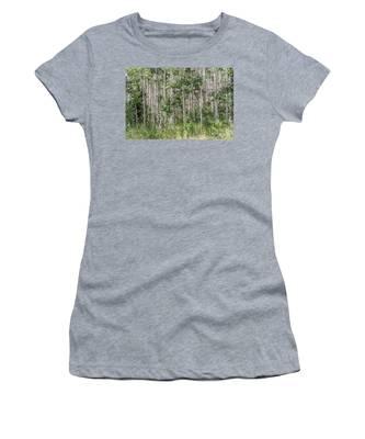 Grove Of Quaking Aspen Aka Quakies Women's T-Shirt