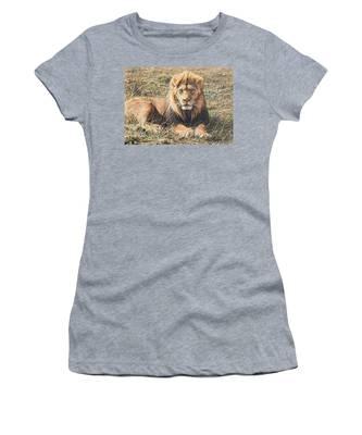 Male Lion Portrait Women's T-Shirt