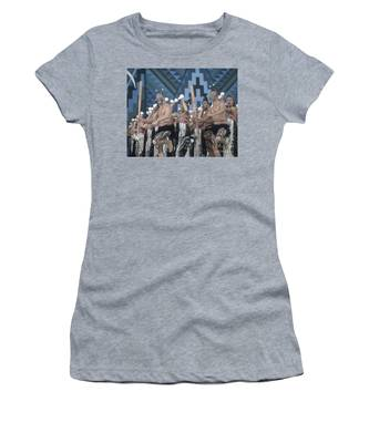 Women's T-Shirt featuring the photograph New Zealand,north Island,  Rotorua Arts Festival,dance And Singi by Juergen Held
