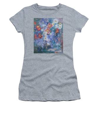 Poppies, Wisteria And Marguerites Women's T-Shirt
