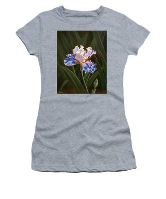 Purple And White Iris Women's T-Shirt