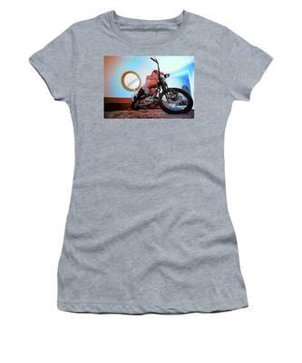 She Rides- Women's T-Shirt