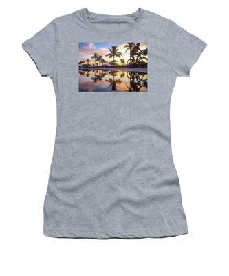 Sunrise Cyclist Delray Beach Florida Women's T-Shirt
