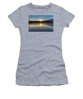 Sunset At The Mandelholz Dam, Harz Women's T-Shirt