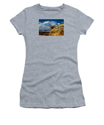 Women's T-Shirt featuring the photograph The Hilltop by Break The Silhouette